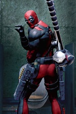 Preview iPhone wallpaper Deadpool game, look back