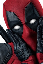 Preview iPhone wallpaper Deadpool, white background