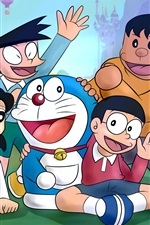 Preview iPhone wallpaper Doraemon, classic anime