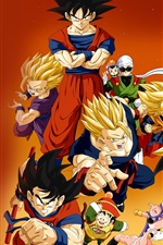 Preview iPhone wallpaper Dragon Ball Z anime HD