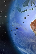 Preview iPhone wallpaper Earth, Australia, meteorite, space