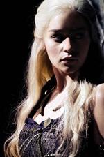 Preview iPhone wallpaper Emilia Clarke, Daenerys Targaryen, Game of Thrones, Season 6