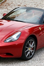 Ferrari California red supercar front view