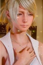 Preview iPhone wallpaper Final Fantasy XV, beautiful girl