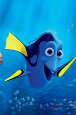 Preview iPhone wallpaper Finding Dory, animated movie 2016