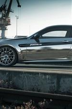 Preview iPhone wallpaper Fostla BMW M3 E92 coupe side view