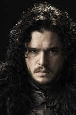 Preview iPhone wallpaper Game of Thrones, Kit Harington as Jon Snow