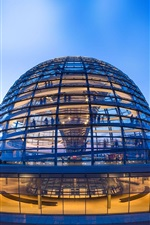 Preview iPhone wallpaper German Reichstag Dome, Berlin