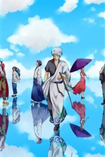 Preview iPhone wallpaper Gintama, Japanese anime