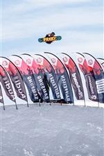 Glacier 3000, jogo de Snowboard, Suíça