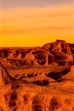 Preview iPhone wallpaper Gobi Desert, Mongolia, China, sunset, red style