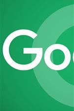 미리보기 iPhone 배경 화면 Google 로고, 녹색 배경