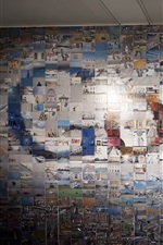 Google logo in the photo wall