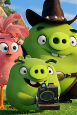Preview iPhone wallpaper Green pigs, Angry Birds movie