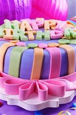iPhone обои С Днем Рождения, сладкий торт, подарки, украшения
