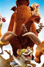 Preview iPhone wallpaper Ice Age 5: Collision Course, 2016 animated movie