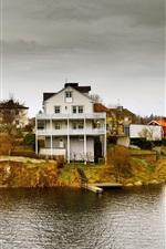 Preview iPhone wallpaper Idyllic houses, archipelago, Pantarholmen, Karlskrona, Sweden