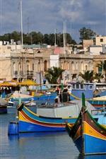 미리보기 iPhone 배경 화면 몰타의 섬, 보트, 주택, 바다
