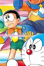 Preview iPhone wallpaper Japanese anime, Doraemon