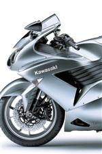Preview iPhone wallpaper Kawasaki ZZR 1400 gray motorcycle
