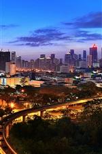 Preview iPhone wallpaper Kuala Lumpur, Malaysia, night city view, illumination