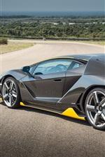 Lamborghini Centenario schwarz supercar Rückansicht
