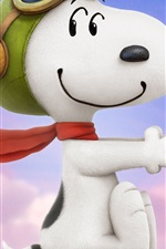 Preview iPhone wallpaper Lovely snoopy in the wind