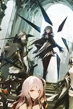 Lowlight Kirilenko, anime girls, dragon, castle