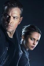 Preview iPhone wallpaper Matt Damon And Alicia Vikander, Jason Bourne 2016