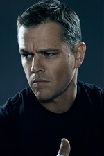 Preview iPhone wallpaper Matt Damon in Jason Bourne 2016