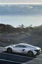 Preview iPhone wallpaper McLaren 570GT white supercar speed