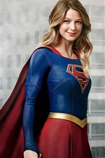 Preview iPhone wallpaper Melissa Benoist as Supergirl