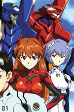 Preview iPhone wallpaper Neon Genesis Evangelion, anime widescreen