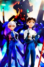 Preview iPhone wallpaper Neon Genesis Evangelion, cartoon character modeling