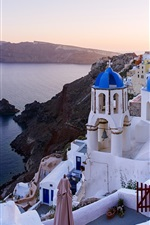 Oia, Santorini, Grécia, mar, casas