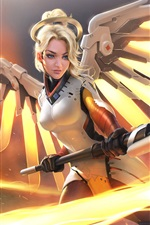 Preview iPhone wallpaper Overwatch, Mercy