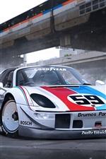 Porsche 918 supercar front view
