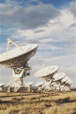 Preview iPhone wallpaper Radio Telescope array, New Mexico, United States