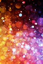 Preview iPhone wallpaper Rainbow colors, colorful lights, abstract pictures