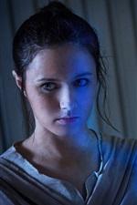 Vorschau des iPhone Hintergrundbilder Rey in Star Wars, Lichtschwert
