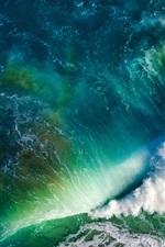 Preview iPhone wallpaper Sea wave, ocean, beautiful nature