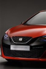 Preview iPhone wallpaper Seat Ibiza Bocanegra red car front view