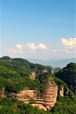 Preview iPhone wallpaper Shaoguan Danxia Mountain, Chinese nature landscape