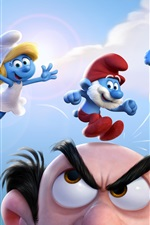 Preview iPhone wallpaper Smurfs 2017