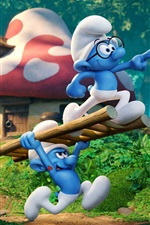 Preview iPhone wallpaper Smurfs 3: The Lost Village 2017