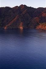 Preview iPhone wallpaper Sunrise, mountains, Mediterranean Sea, Lycia, Turkey