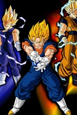 Preview iPhone wallpaper Super saiyan, Dragon Ball Z, cartoon anime