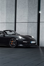 TechArt Porsche Boxster black roadster side view