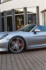 TechArt Porsche Boxster silver roadster side view