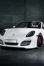 Preview iPhone wallpaper TechArt Porsche Boxster white roadster